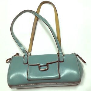 Mondani Small light blue purse w/pocket in front